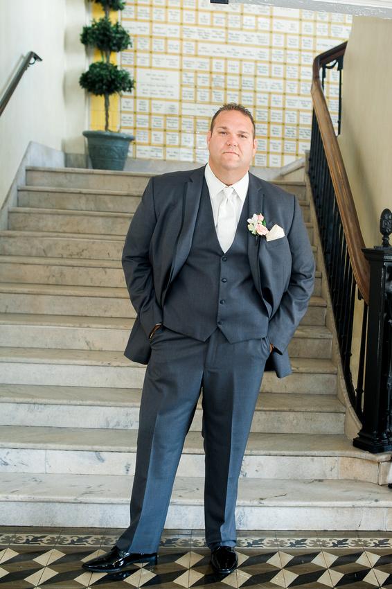 Italian Club Ybor City, Bride and groom photos. Tampa Wedding Photographer.