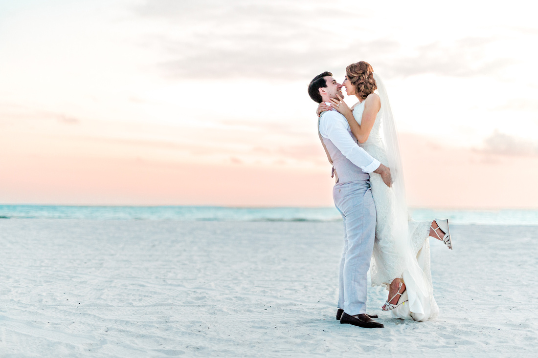 Destination wedding at JW Marriott Marco Island Beach Resort - newlywed portraits