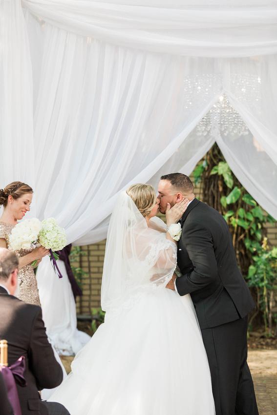 Tampa Wedding. Ybor City Museum Gardens. Outdoor Garden Wedding Ceremony.